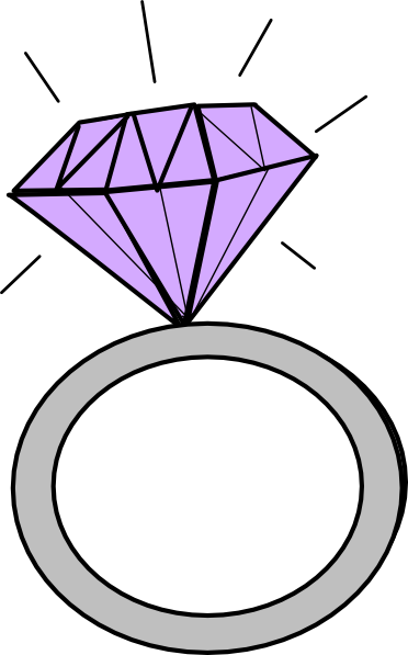 Pink diamond clipart 2