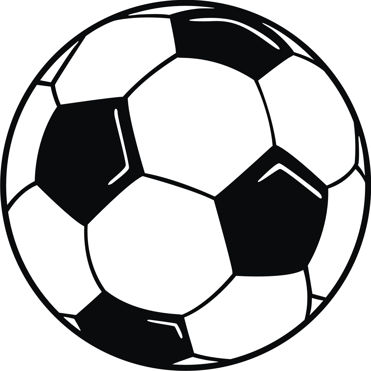 Soccer ball border clip art free clipart images