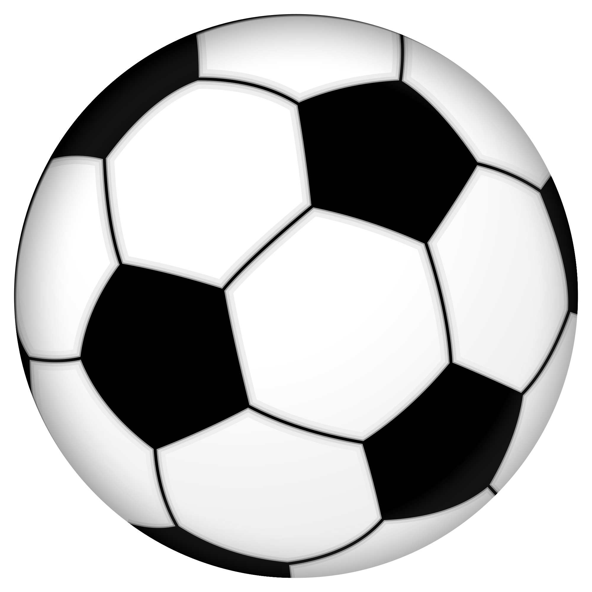 Soccer ball clip art black and white free
