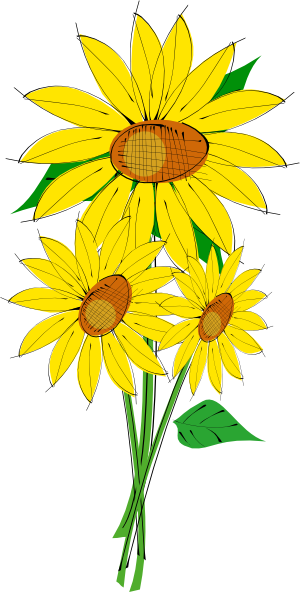 Sunflower border clipart free images 2