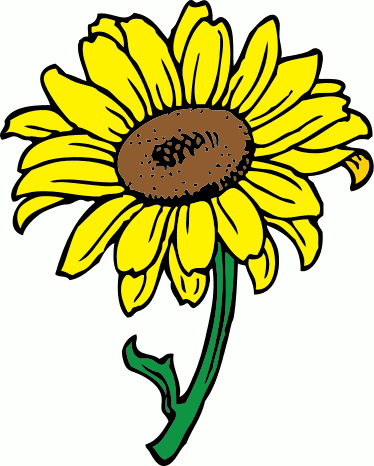 Sunflower clip art free printable clipart 4