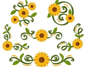 Sunflower clipart border