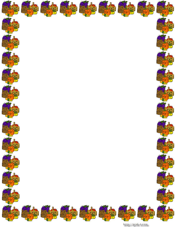 Thanksgiving border clipart free images 2