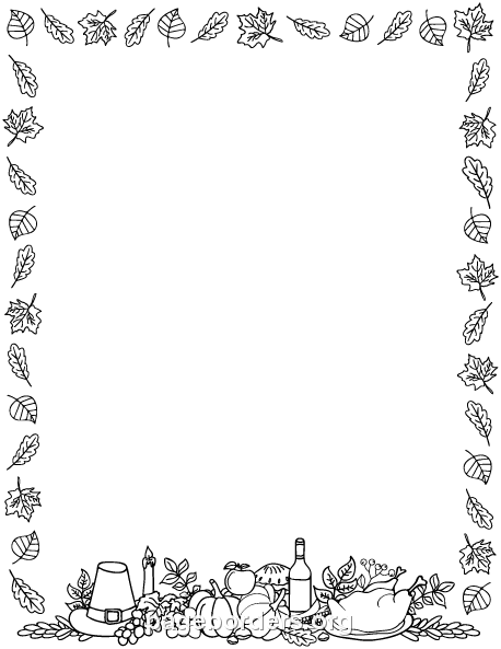 Thanksgiving border free fall borders clip art page and vector graphics