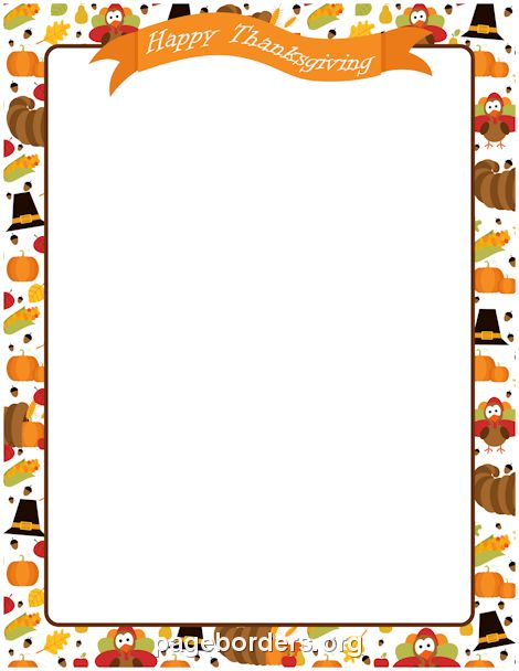 Thanksgiving border happy thanksgiving thanksgiving and microsoft word on