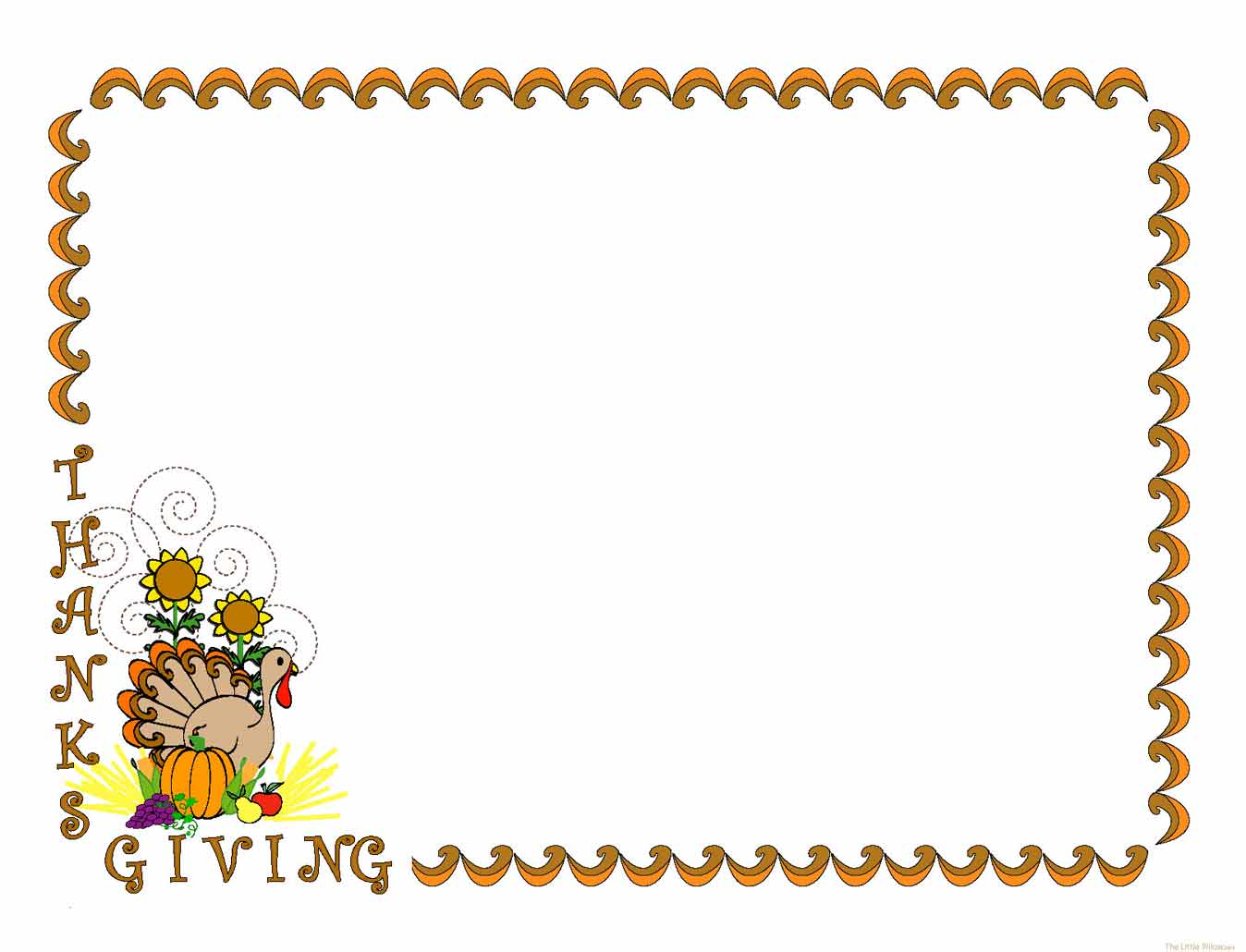 Thanksgiving borders clipart 2