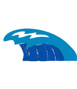 Wave clip art blue download vector clip 2