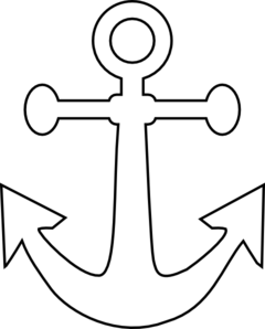 Anchor clipart black and white free images 2
