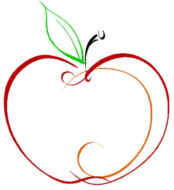 Apple clipart outline 2