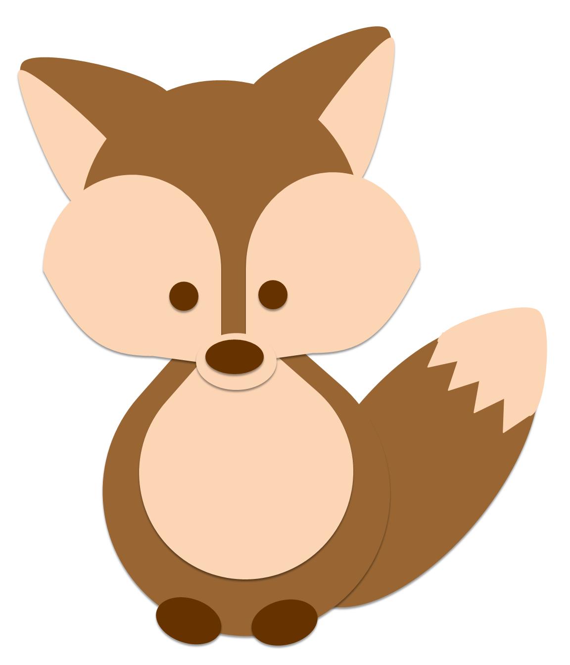 Baby fox clip art 2