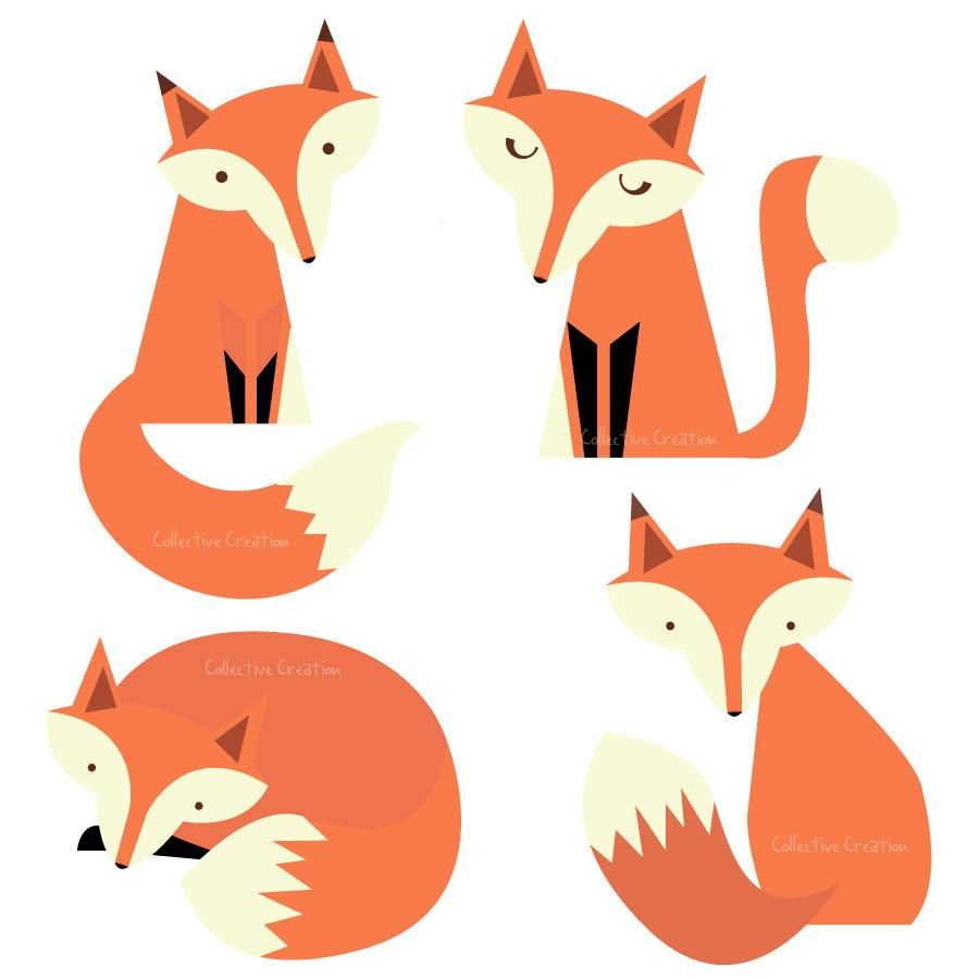Baby fox clip art 3