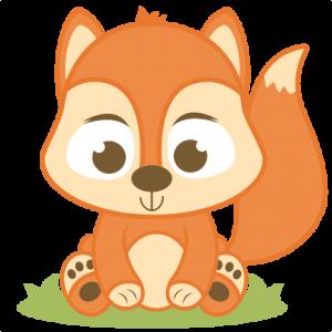 Baby fox clip art 5