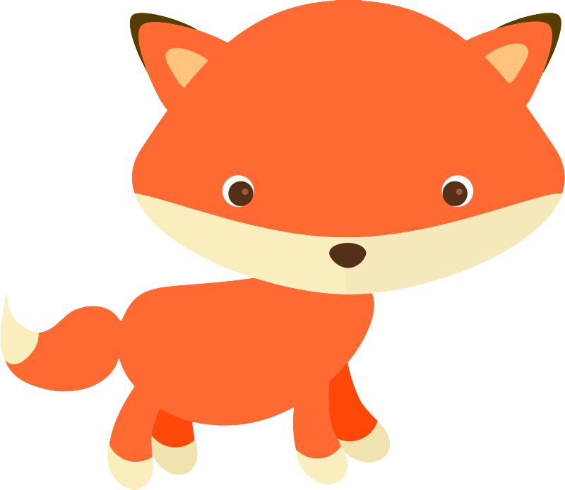 Baby fox clip art