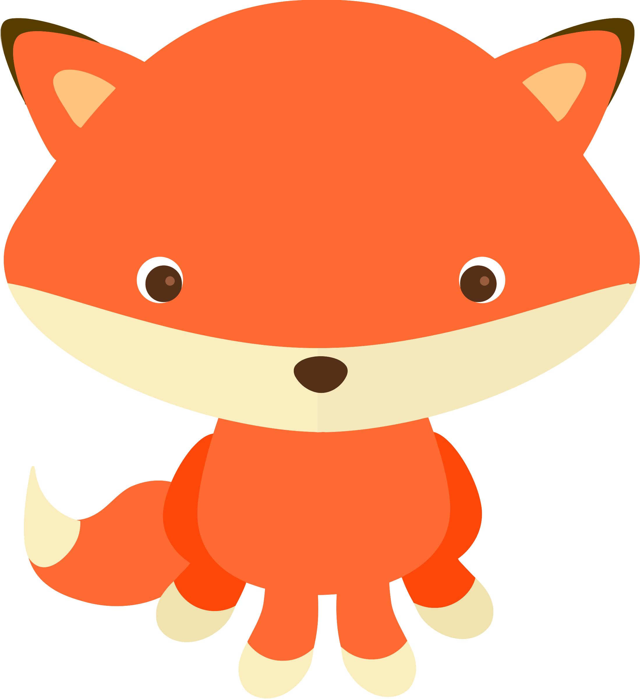 Baby fox clipart