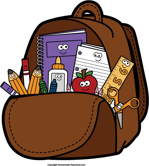 Backpack clipart 3