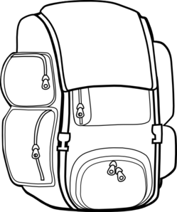 Backpack clipart black and white free images