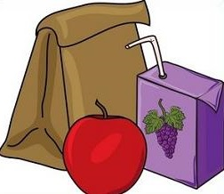 Bag lunch clipart
