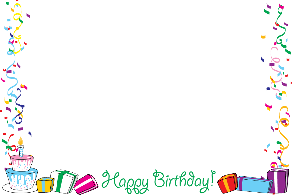 Birthday border clipart tumundografico 2