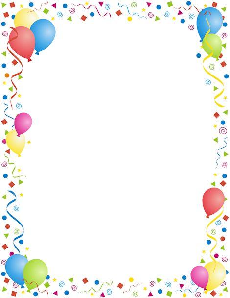 Birthday border clipart tumundografico 5