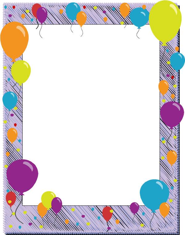 Birthday border clipart tumundografico 6