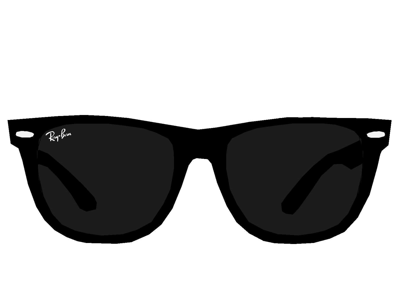 Black and white sun with sunglasses clipart clip art