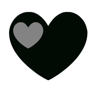 Black heart clip art 2