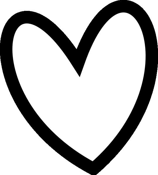 Black heart clipart