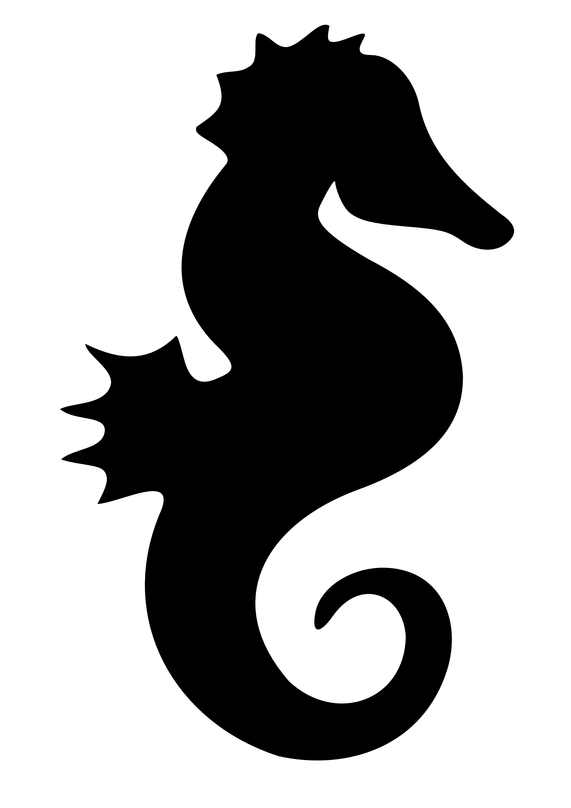 Black seahorse clipart clipartfox