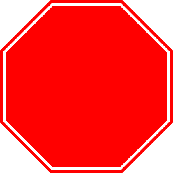 Blank stop sign clip art clipart