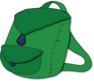 Blue backpack for teachers clipart