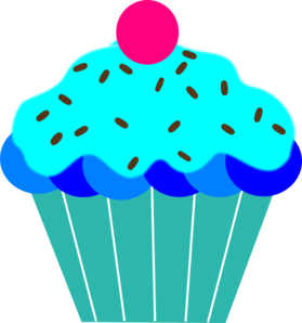 Blue cupcake clipart 2