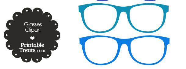 Blue glasses clipart