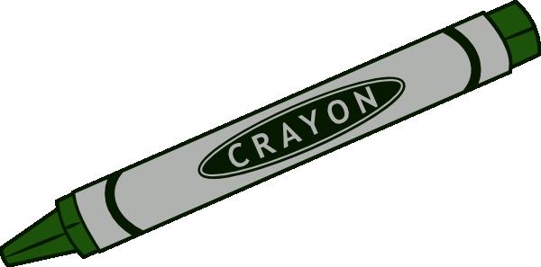 Brown crayon clipart