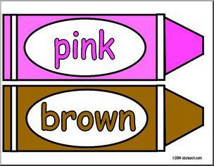 Brownlor crayons clip art in addition brown crayon
