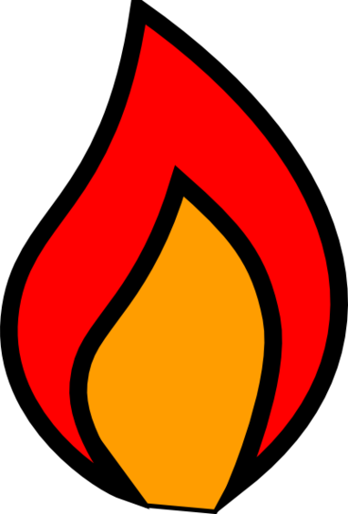 Candle flame clip art