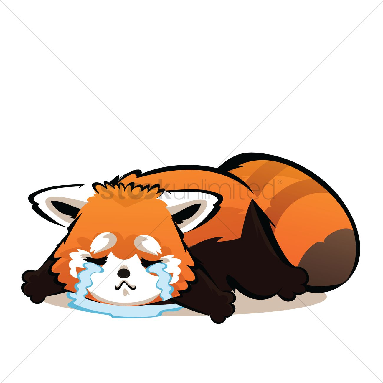 Cartoon red panda crying vector image 6 stockunlimited clipart