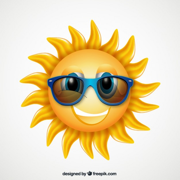 Cartoon sun with sunglasses vector free download