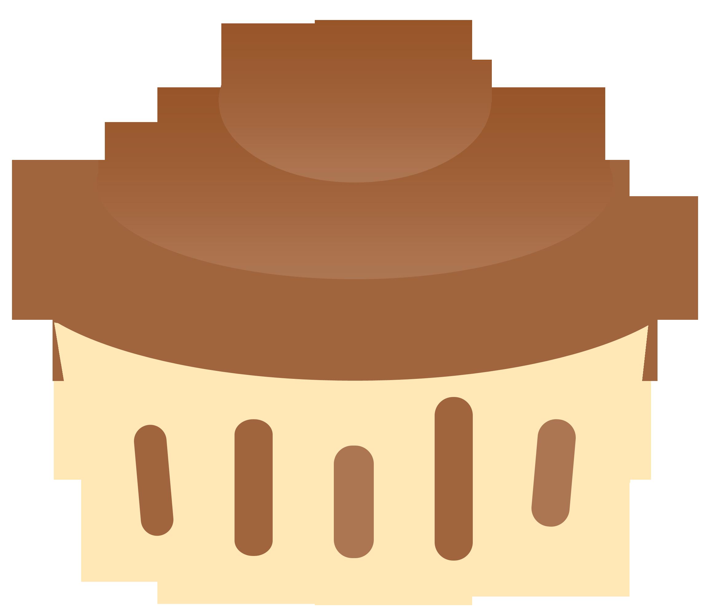 Chocolate cupcake clipart free