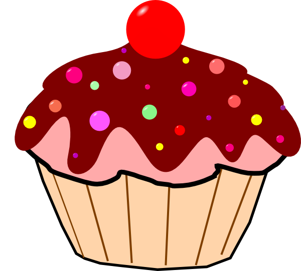 Chocolate cupcakes clipart free images