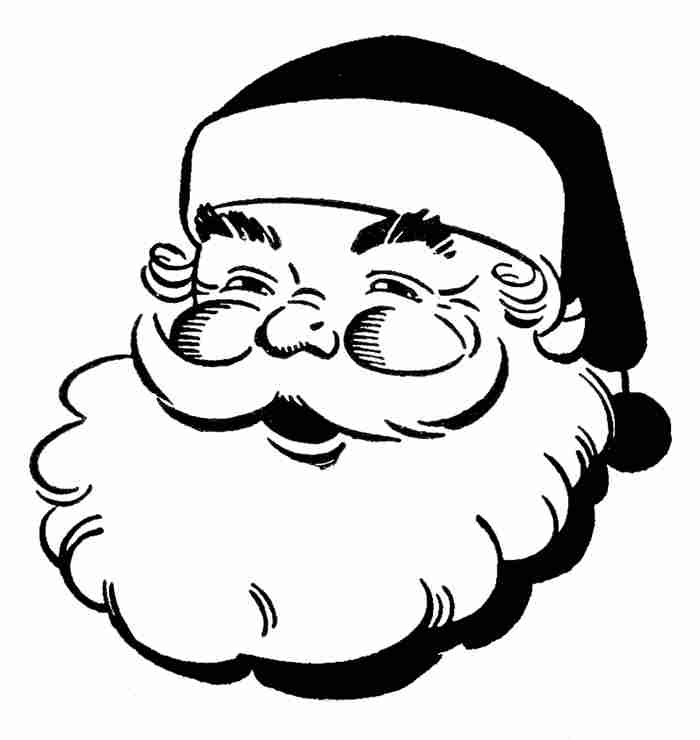 Christmas  black and white black and white christmas clip art free 4