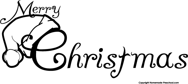 Christmas  black and white black and white merry christmas clip art