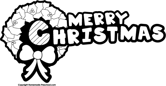 Christmas  black and white merry christmas clip art black and white happy holidays 3