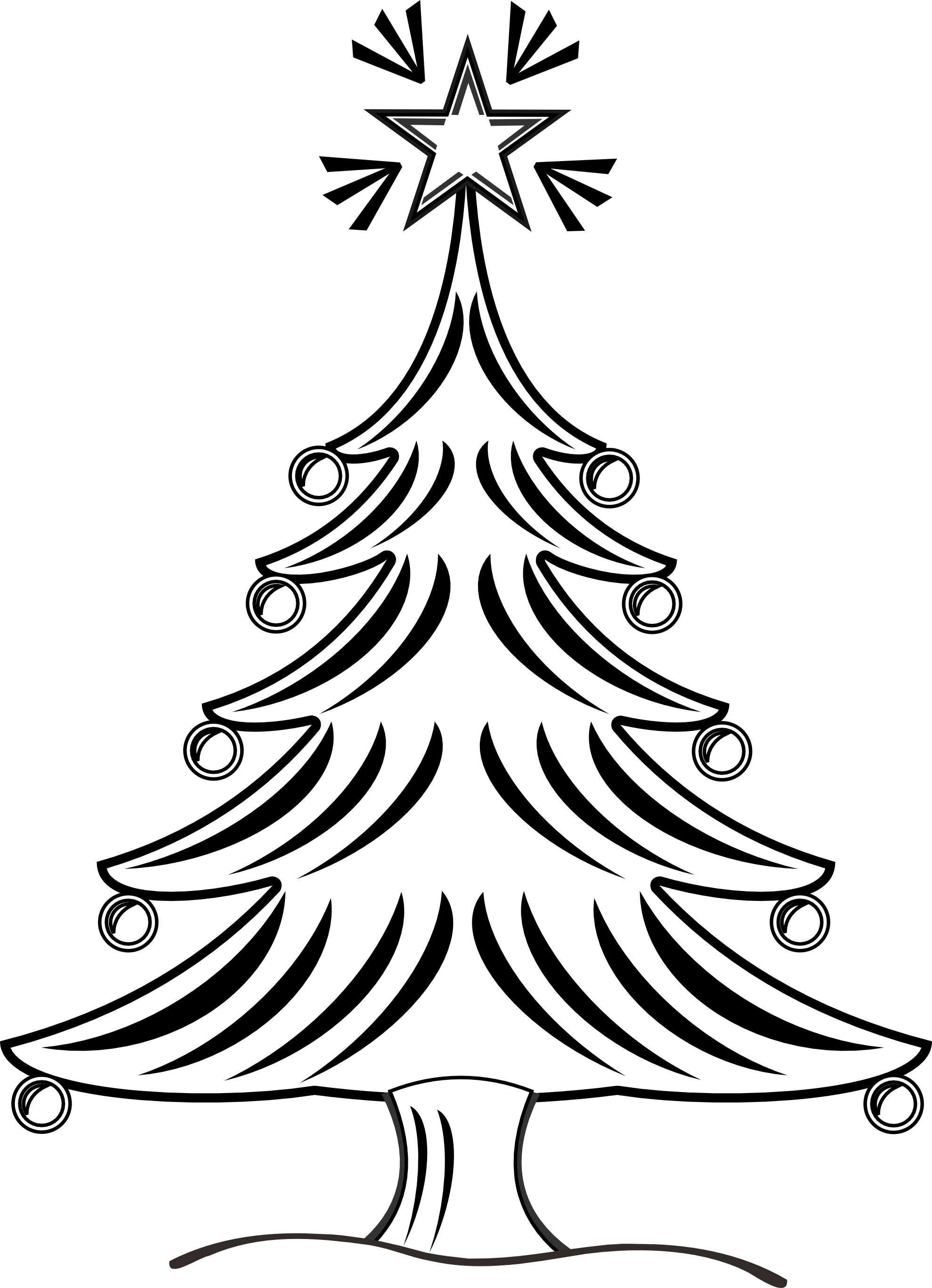 Christmas  black and white merry christmas clipart black and white free 2