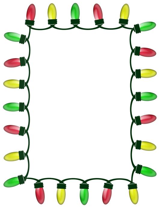Christmas lights banner clipart