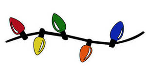 Christmas lights border clipart free images 2