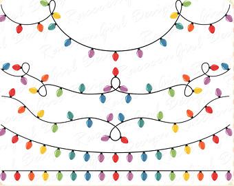 Christmas lights christmas light garland clipart