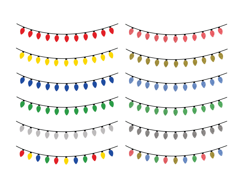 Christmas lights clipart image 2