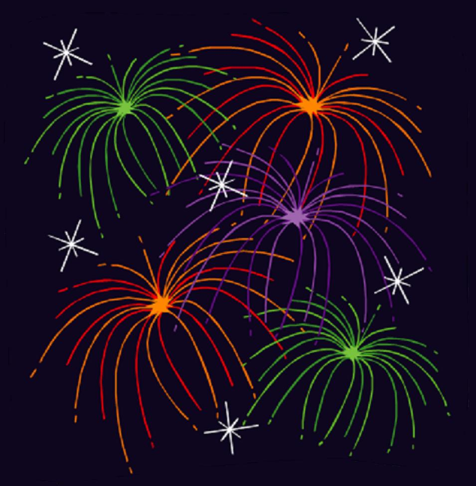 Clip art moving animations fireworks clipart