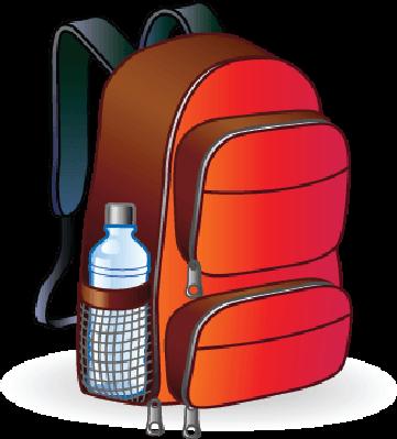Clip art school backpack clipart