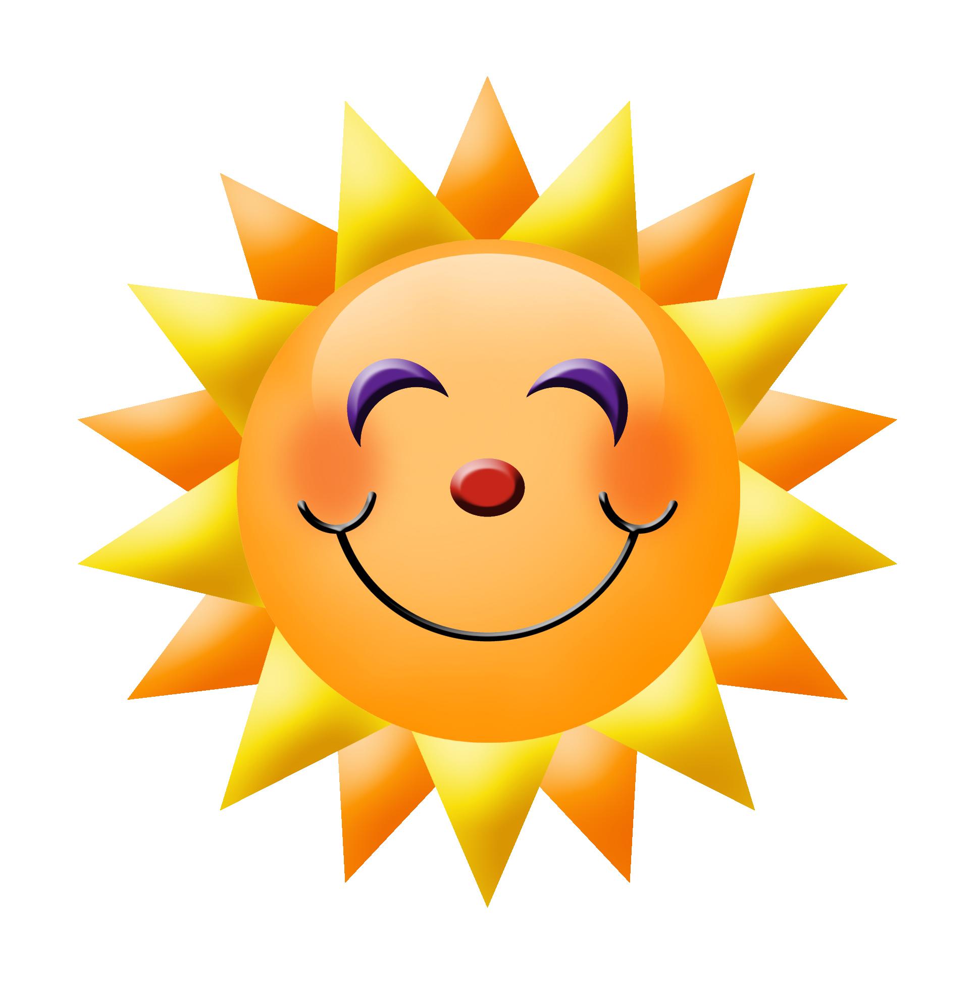 Clip art smiley face sun